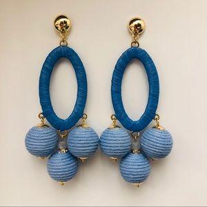 Anthro Blue Statement Earrings